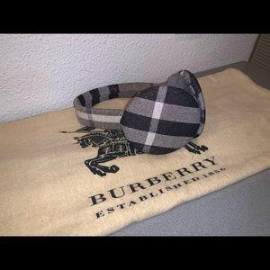 Authentic Burberry nova check metallic earmuffs